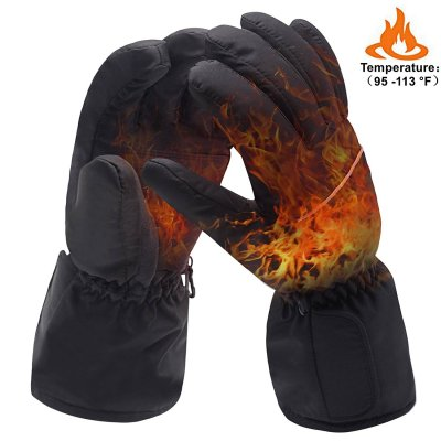 Global Vasion 4.5V Waterproof Electric Heated Gloves Battery Power Winter Hiking Skiing Cycling Warm Heated Gloves For Motorcycle Hunting