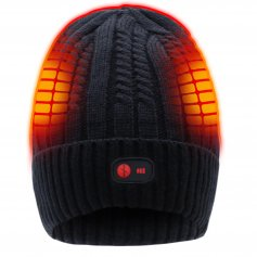 7.4V Winter Warm Cap With Battery Powered Cap Novel Style Electric Heating Hat For Winter Cold Weather