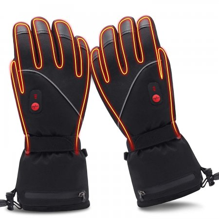 GLOBAL VASION Heated Gloves for Men Rechargeable Hand Warmers Outdoor Ski Hiking Snowboating Heated Insoles Finger Warmers Gloves