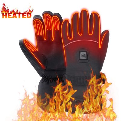 Global Vasion 7.4V Winter Warm Waterproof Electric Heated Gloves. 2200mAh Rechargeable Battery Powered Heated Gloves