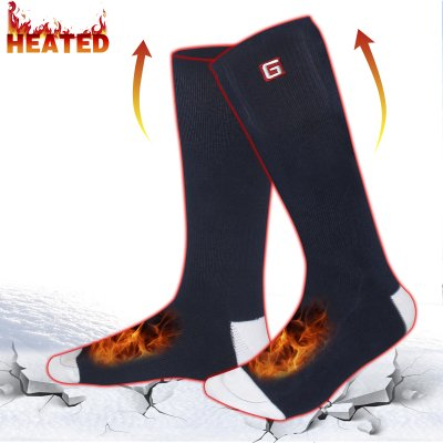 Electric Heated Socks Men, 3.7V Cold Winter Warm Skiing Socks,Rechargeable Battery Heating Socks Women