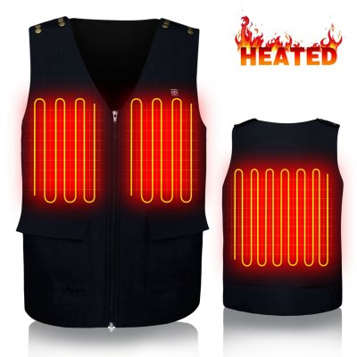 Men Women Electric Battery Powered Heated Vest Rechargeable Puffer Down Gilet,Waterproof Heat Insulate Waistcoat for Sports&Outdoors,Skiing Skating Climbing Hiking Heat Vests