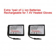 7.4V Rechargeable Li ion Battery for 7.4V Heated Gloves,Heated Hat