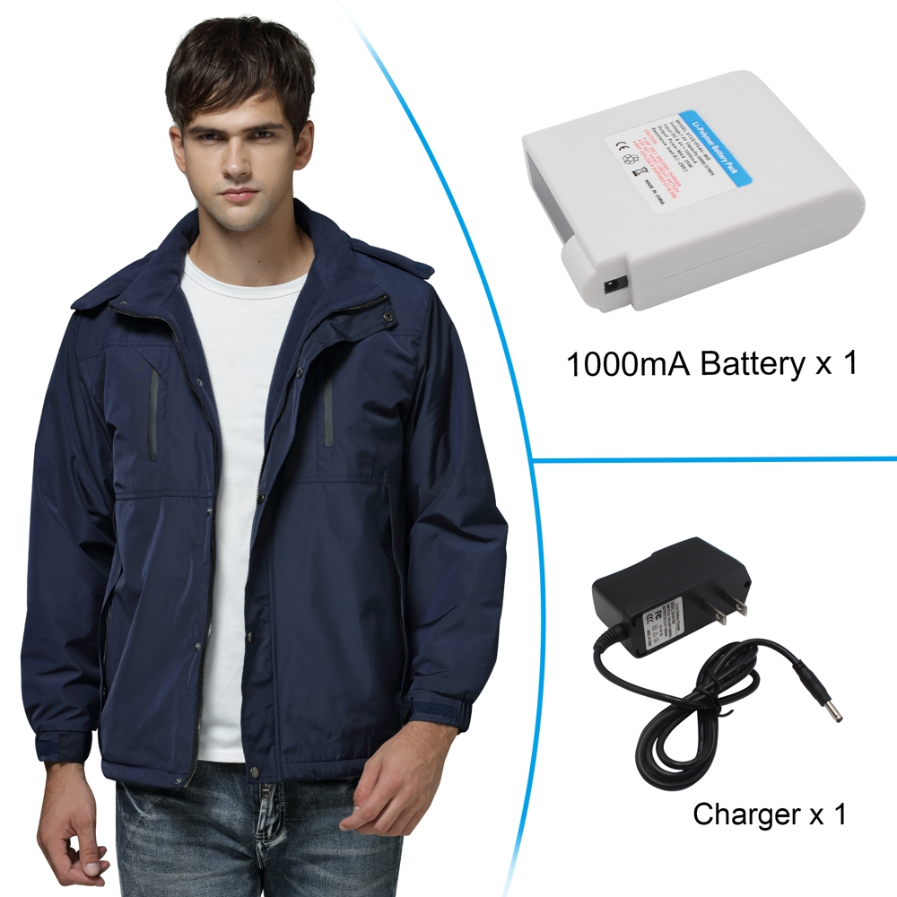Men's Electric Battery Powered Heated Jacket Rechargeable Puffer Down Jackets,Waterproof Heat Insulate Jacket for Sports&Outdoors,Winter Warm Skiing Skating Climbing Hiking Jackets